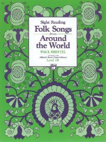 cover of  folk songs from around the world  alfreds basic piano library  by