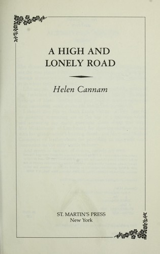 A high and lonely road