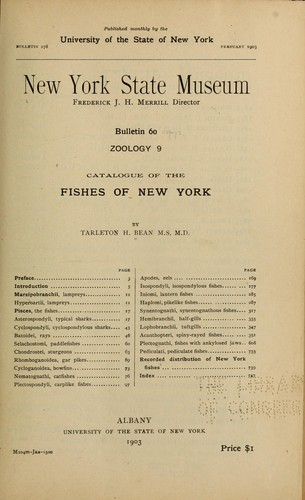 Catalogue of the fishes of New York.