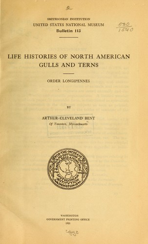Life histories of North American gulls and terns
