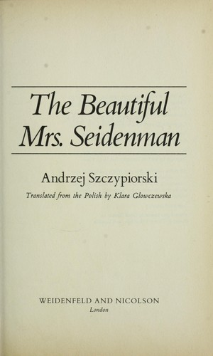 The beautiful Mrs Seidenman