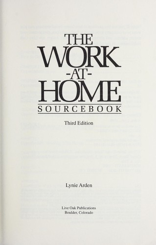 The work-at-home sourcebook