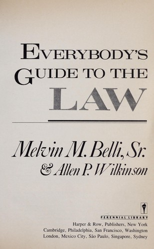 Download Everybody's guide to the law