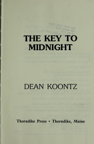 The key to midnight by Dean Koontz.