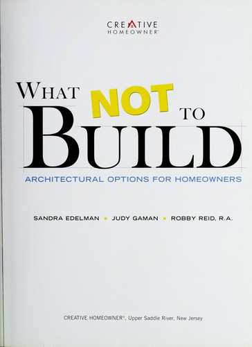 What not to build by Sandra Edelman