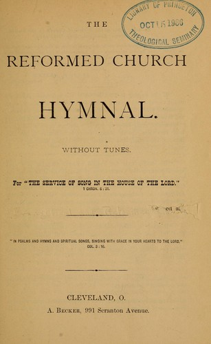 The Reformed Church hymnal by Reformed Church in the United States