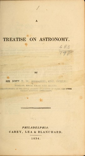 A treatise on astronomy.