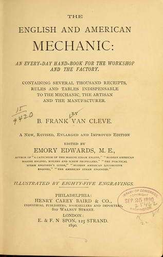 The English and American mechanic
