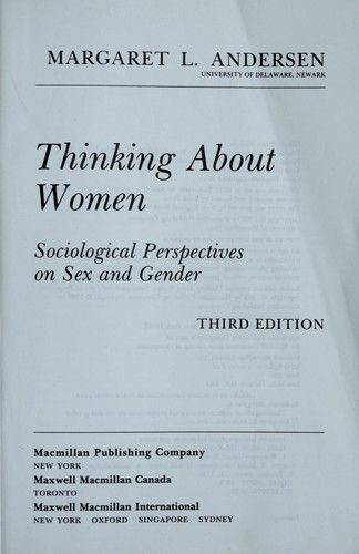 Download Thinking About Women
