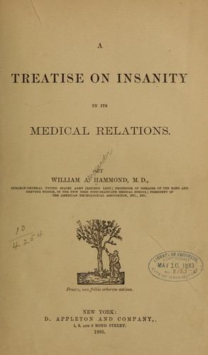 A treatise on insanity in its medical relations.