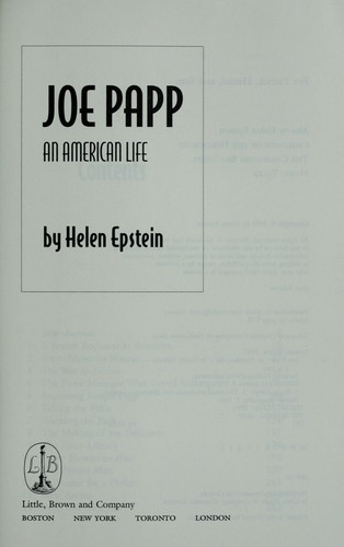 Joe Papp by Helen Epstein