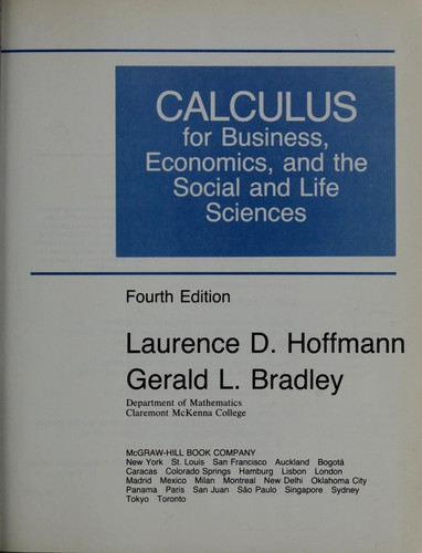 Calculus for business, economics, and the social and life sciences.