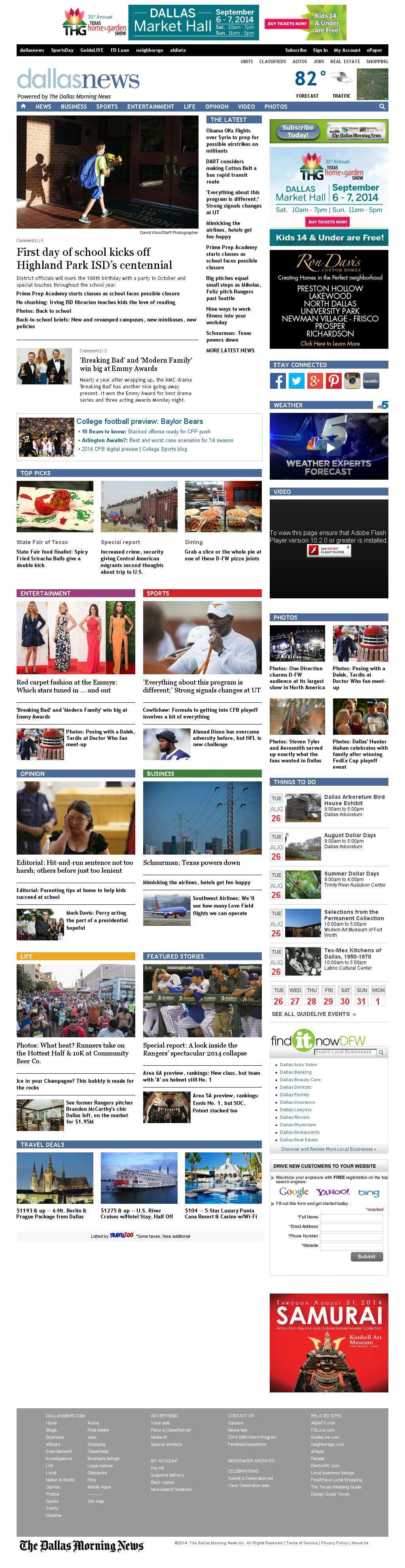 dallasnews.com at Tuesday Aug. 26, 2014, 10:03 a.m. UTC