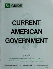 Cover of: Current American Government- Spring 1974 | Robert A. Diamond