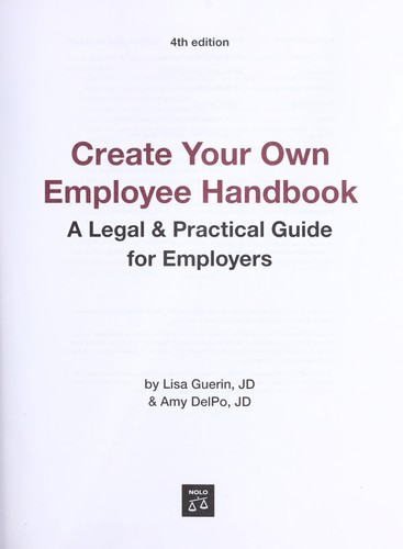 Create your own employee handbook by Lisa Guerin