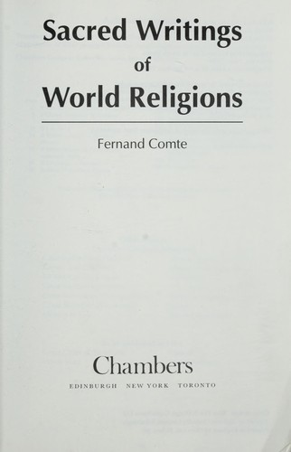 Sacred writings of world religion by Fernand Comte