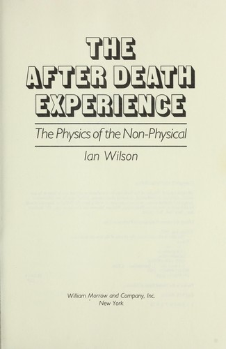 The after death experience by Wilson, Ian