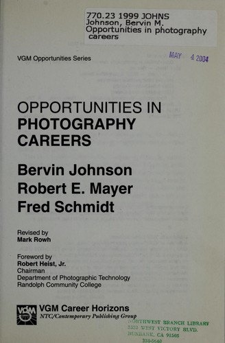 Opportunities in Photography Careers by
