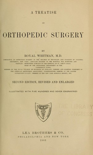 A treatise on orthopedic surgery by Royal Whitman