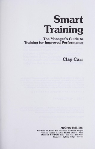 Smart training by Clay Carr